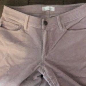 LOFT Pants - LOFT LAVENDER SKINNY CORDUROY PANTS